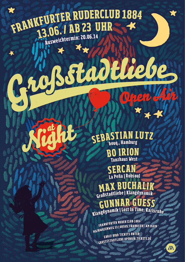 Plakat Gro·stadtliebe Open Air -10- AT NIGHT
